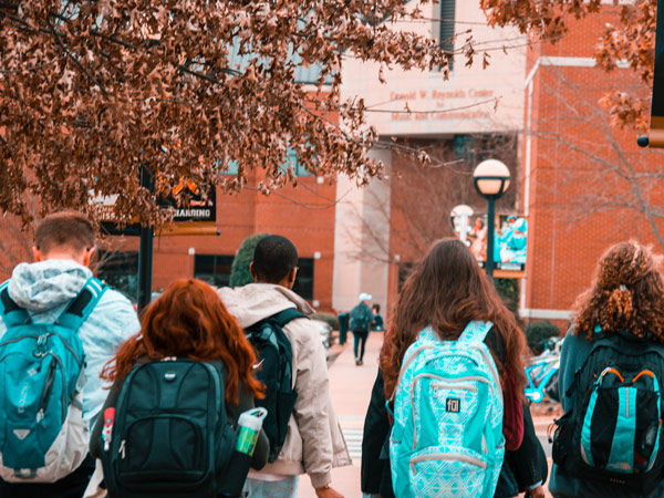 students with backpacks