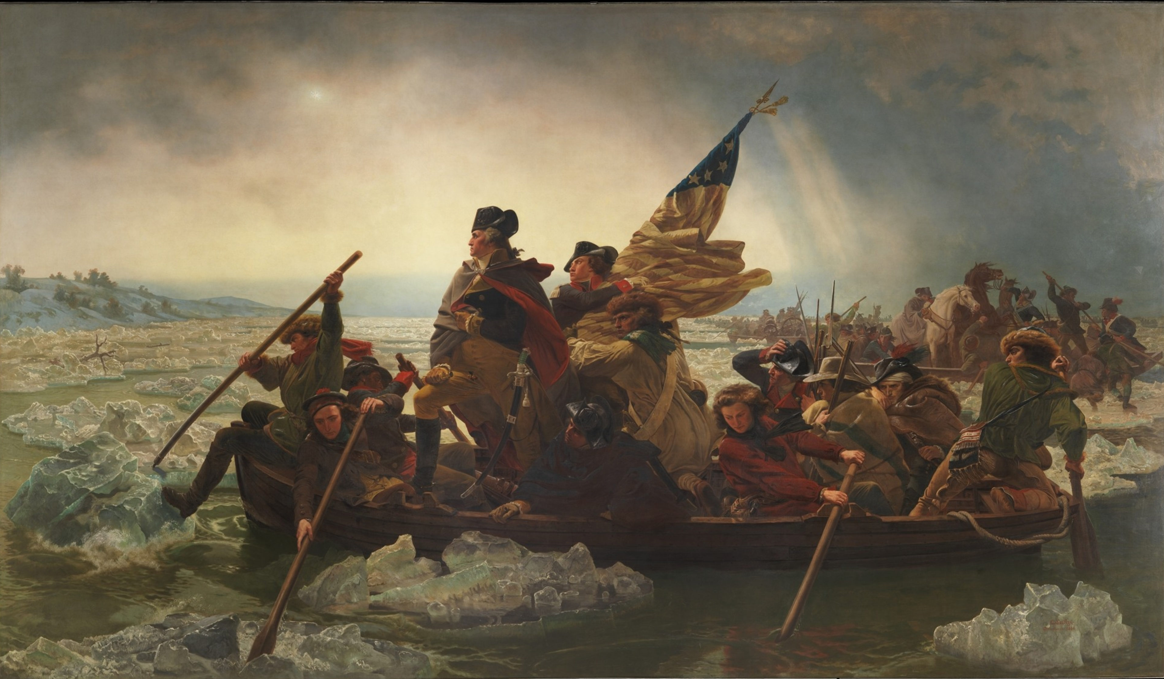 Emanuel Leutze painting called Washington Crossing the Delaware